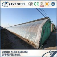 Hot selling Steel Greenhouse Steel Greenhouse Plastic-film Covered