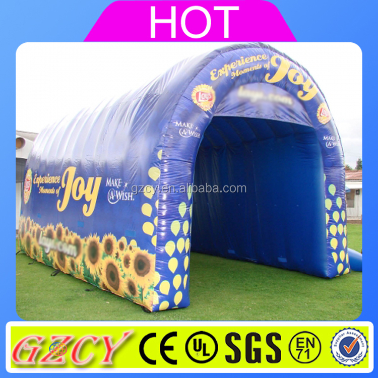 Attractive advertising inflatable tunnerl tent /inflatable sport tunnel/ inflatable dome tent