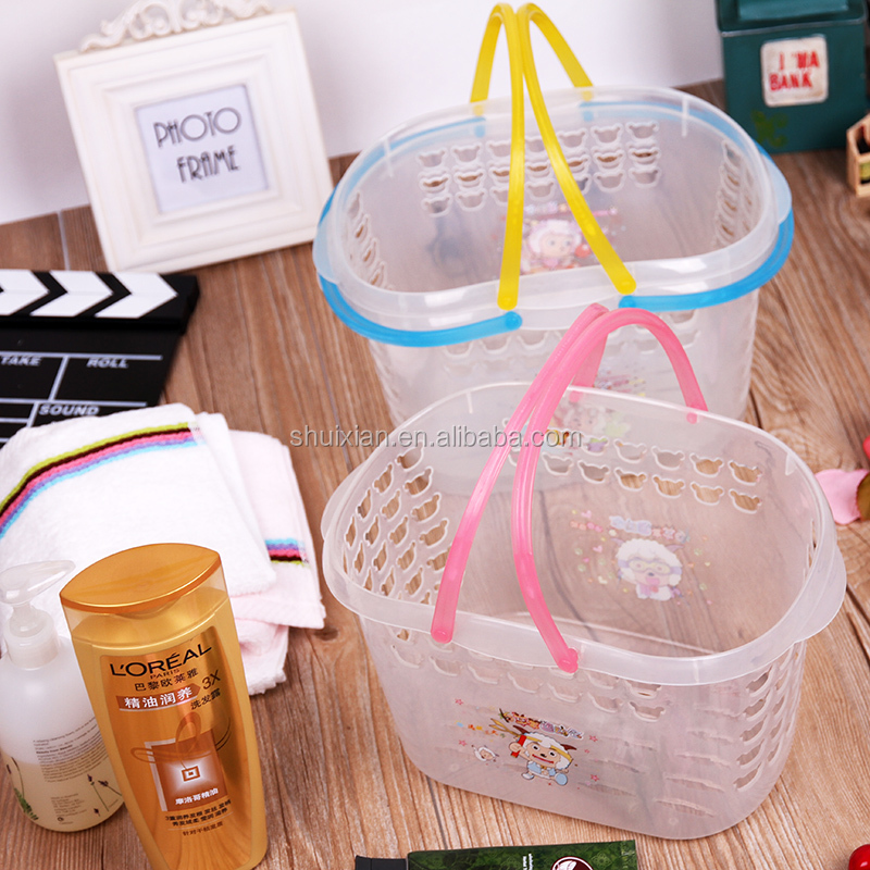 transparent plastic color fashion durable transparent baskets