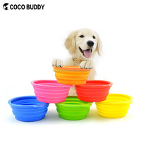 Hot New Products for Amazon travel pet bowl silicone foldable dog bowl