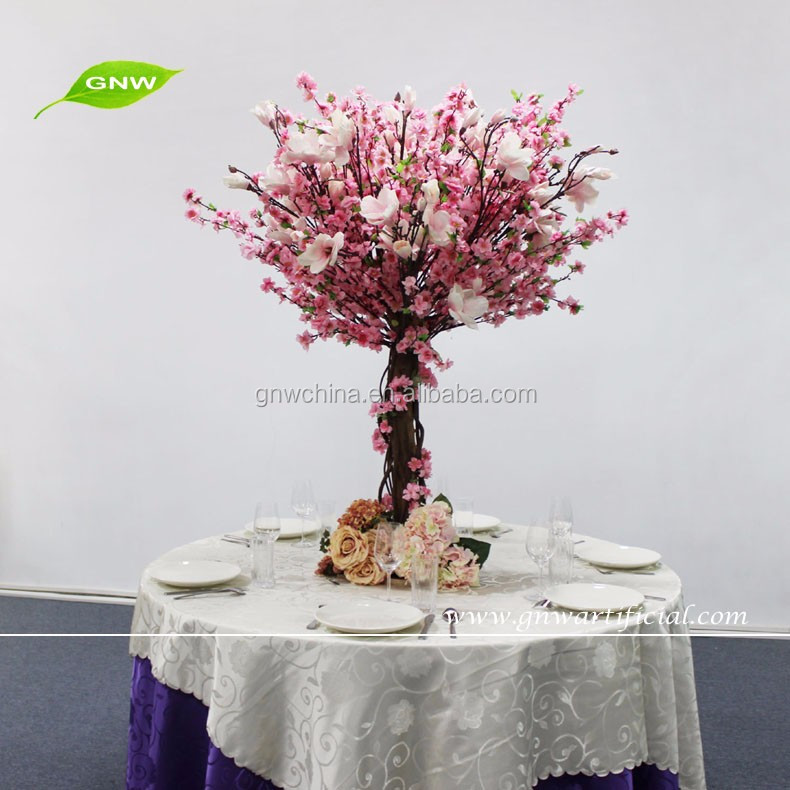 GNW CTR1503004 White atifificial wisteria + cherry blossom+ magnolia centerpieces for wedding