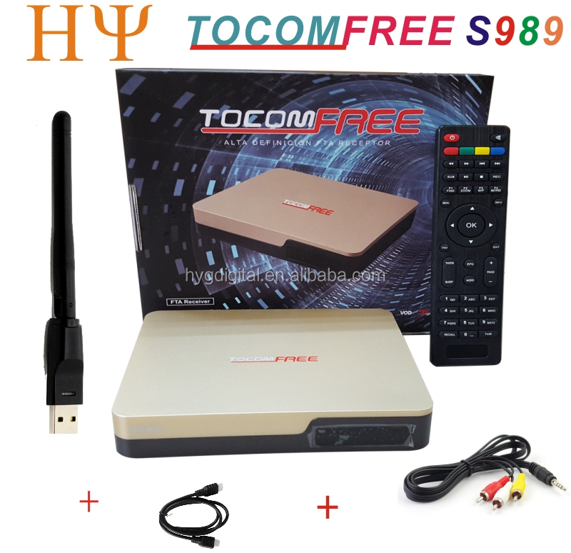 TOCOMFREE S989 satellite eceiver open nagra4 with ACM function iks sks free for South America TOCOMFREE S989