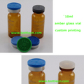 injection 10ml amber colored vial bottle with custom printing on side
