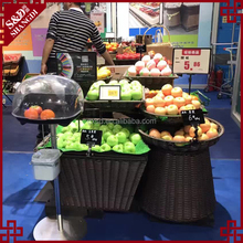 Sample available plastic basket for fruit / fruit stand vegetable rack