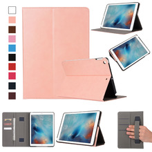 Tablet case cover super slim card slots wallet leather case for new ipad 9.7 ,for ipad case with card pocket