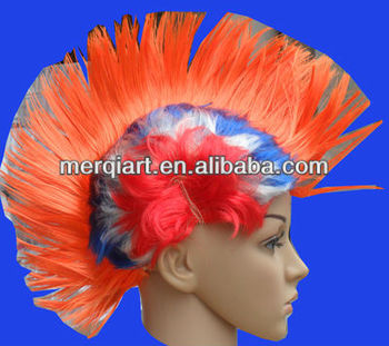 Fancy Multi Colour Punk Mohican Rocker Wigs