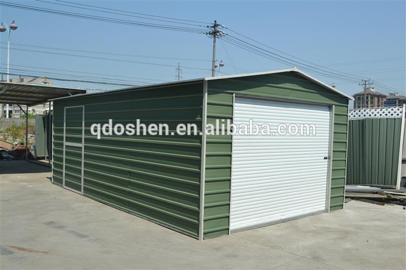 Garage en acier abri de jardin en acier hangar de stockage for Abri de jardin acier
