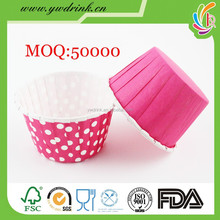Wholesale red polka dot baking muffin paper cake cup