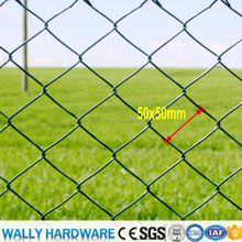 Supply 6ft High Heavy Zinc Coated Temporary PVC coated for playground garden highway Construction Chain link fence