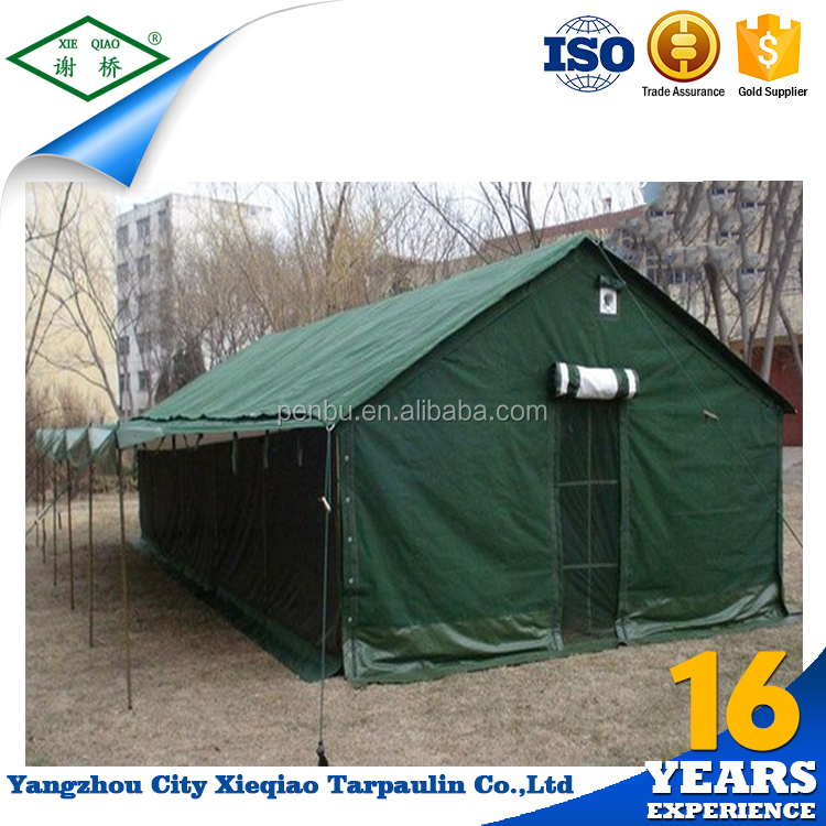 Hot sale canvas outdoor living military tent products exported from china