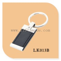 Fashionable cool leather usb flash drives with keychain