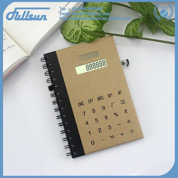 Mini cute notebook calculator with protective cover FS-3009