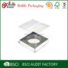 Hot selling plain cheap clear plastic cupcake boxes packaging wholesale