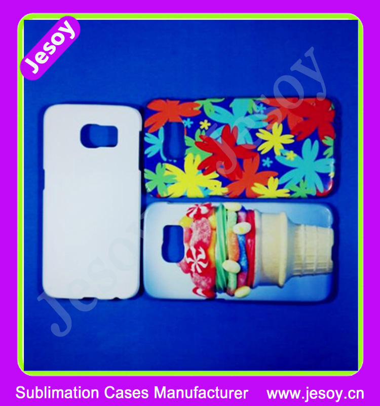 JESOY Hot Sell Coustom Printed Plastic Case 3D Sublimation Cover Case For Samsumg Galaxy S3 S4 S5 S6