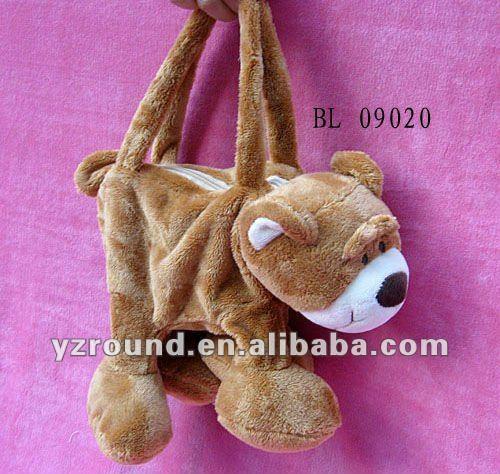 New pattern teddy bear hand bag lovely toy animal bag