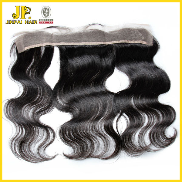 Grade 7A high quality 13x2 size body wave virgin brazilian straight lace closure