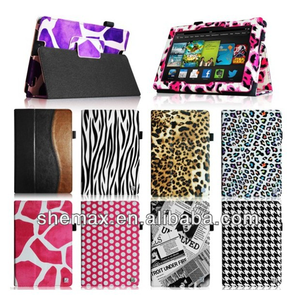 "Synthetic Leather Case Cover For Amazon Kindle Fire HDX 7"" 7.0 inch 2014 New Release"