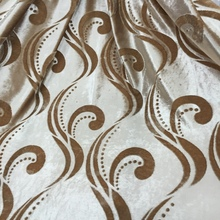 VELVET CURTIAN FABRIC WITH EMBOSSED DESIGN FOR MIDEAST