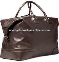 leather small travel bag for journey / professional duffel bag manufacturer / convenient travel storage bag