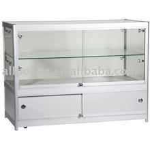 Glass display counter for cakes, bakery cabinet display showcase