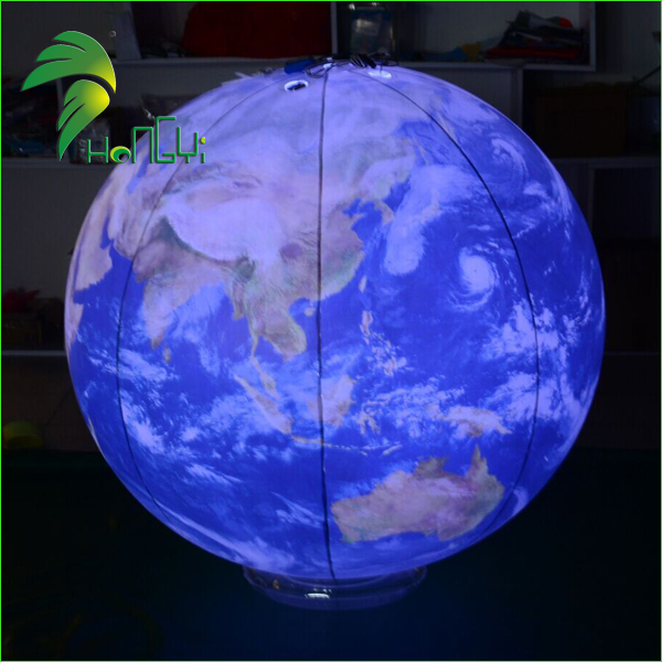 High Definition Magic 0.18mm PVC Inflatable LED balloons / Lighted Earth Globe / Inflatable Furniture For Night Party Decoration