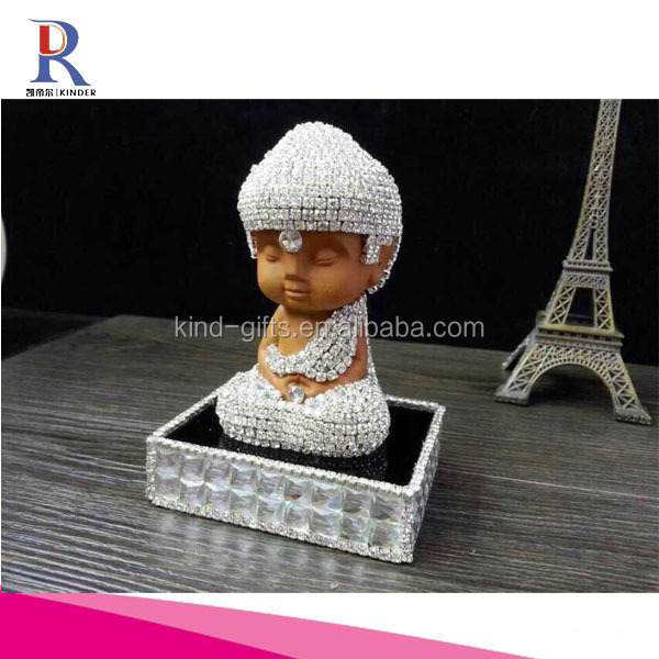 Buddha Refillable empty crystal perfume bottle