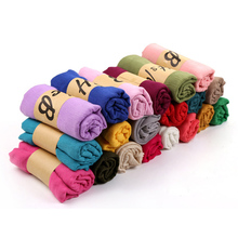 Fashion Solid Color Cotton Crinkle Women Muslim Hijab Scarf And Shawls