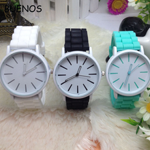 Cheap Wholesale Geneva silicone jelly Bright-Coloured Student Watch