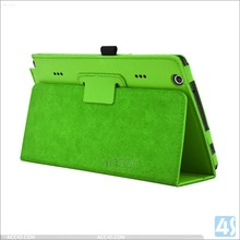 Hot selling OEM logo Leather Stand Case for LG G Pad X 8.3 light green