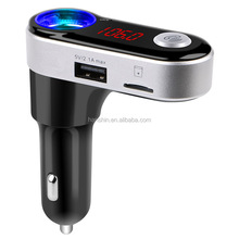 Dual USB Car Charger Support TF Card FM Transmitter BT Handsfree Car Kit MP3 Music Player Radio Adapter BC09B