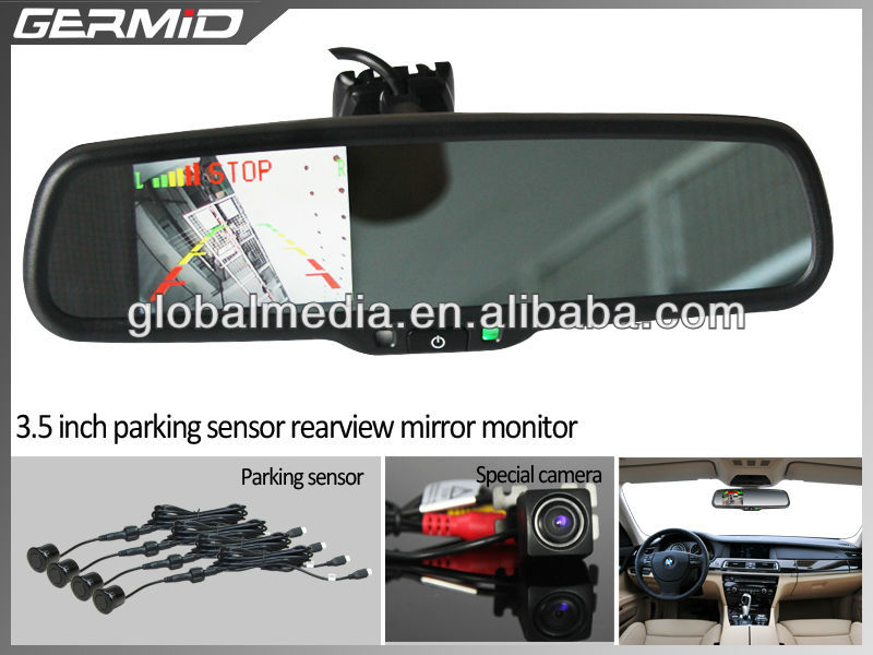 OEM style car mirror monitor for with rear camera display and parking sensor