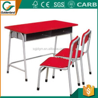 2016 Wholesale Adjustable Single School Desk And Chair