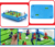 Educational plastic emulational table set mini soccer game toy with little net