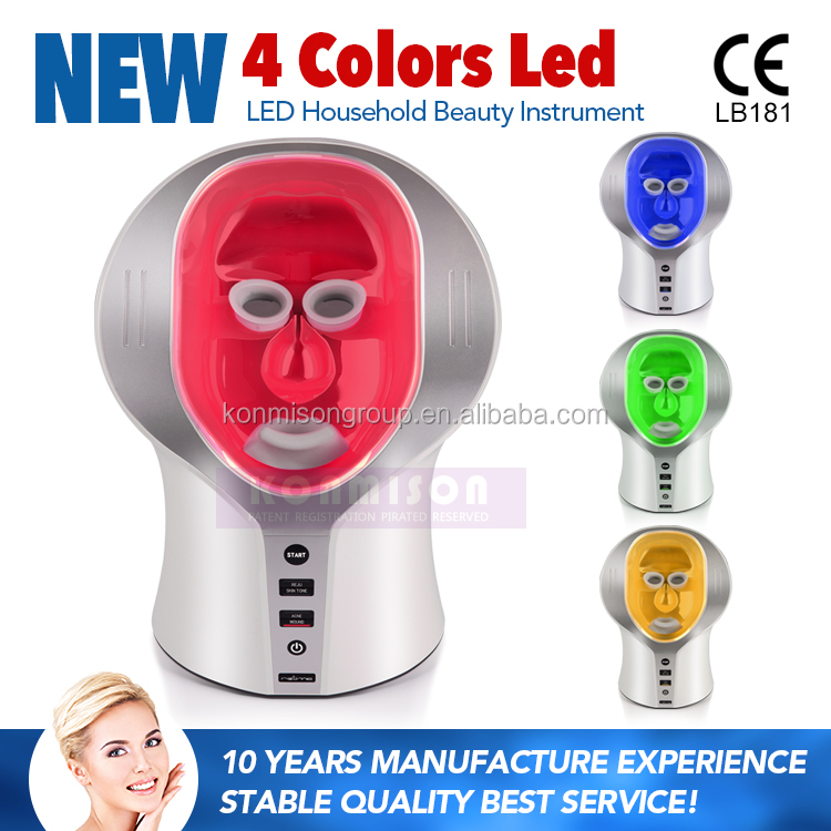 2017 trending LED household beauty instrument led light therapy facial beauty