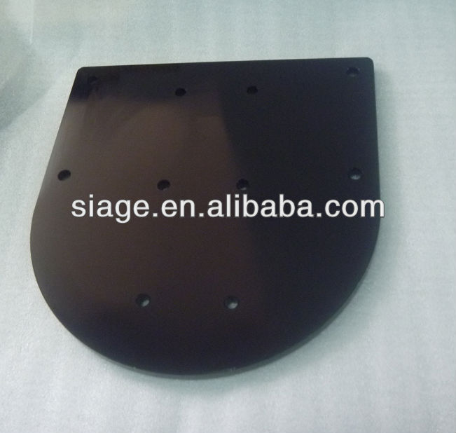 cnc machined parts with black anodize
