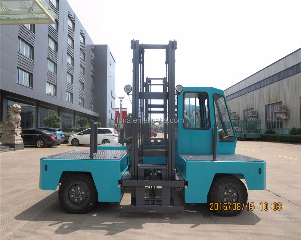 New price 3 ton electric side loader forklift for sale