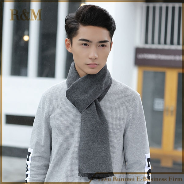 Winter hot cashmere solid color feel scarf men