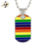 Fashion Men Custom Rainbow Stainless Steel Pendant Necklaces