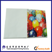 Factory price custom designed paper greeting card