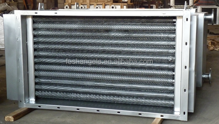 Heating Coils, Cooling Coils & Heat Exchange Coils, Stainless Steel Finned Tube Steam Heater