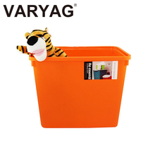 Warehouse plastic container cover bins wholesale clothing box cheap clothes storage boxes