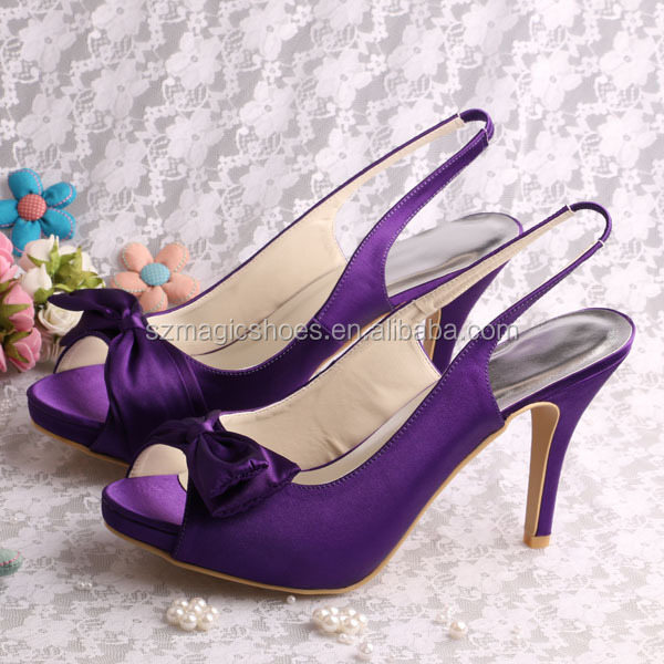 (20 Colors)Platform High Heel Purple Wedding <strong>Sandals</strong>