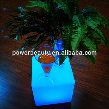 remote controlled cube bluetooth speaker with color changing led