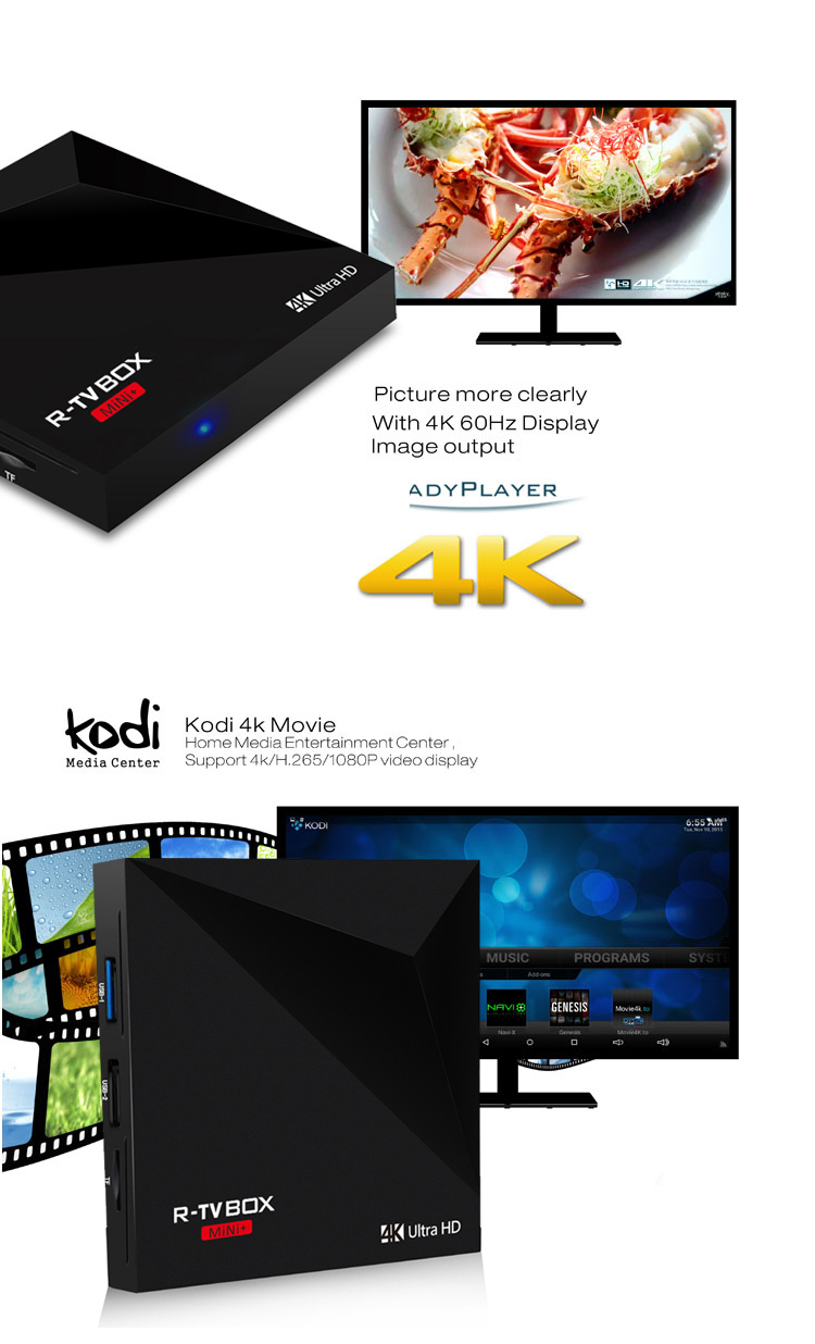 Android 7.1 4K Box KD17.1 RK3328 2.4G Wifi OTT TV Box Ultra HD 64Bit