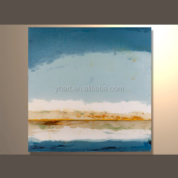 Hand Painted Canvas Oil Painting Framed Artwork for Furnished Apartment