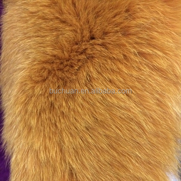 Top Quality Whole Fox Fur Skin Natural/Dyed Color for Blanket