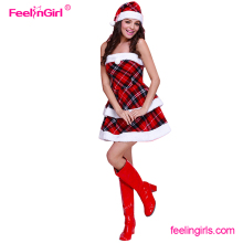 2017 Latest cute christmas costumes adults dress