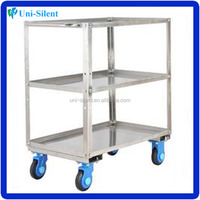 Durable Stainless Cart decorative Medical Trolley Cart