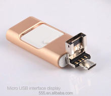 Use for iphone 6s iphone 7 usb flash drive otg mobile phone usb flash drive 128gb 256gb