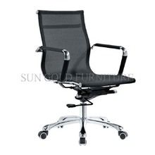 Visitor middle back mesh parts fixed armrest office chair (SZ-OC197-1)